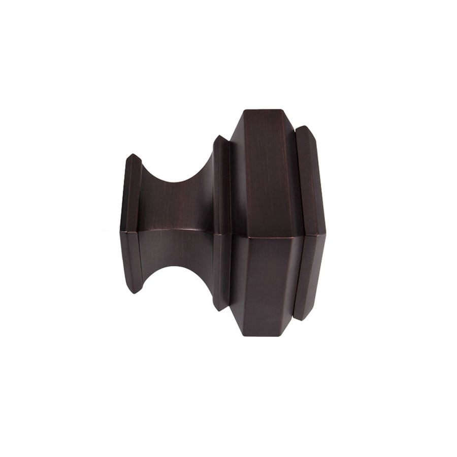 Allen Roth 2 Pack Oil Rubbed Bronze Aluminum Curtain Rod Finials