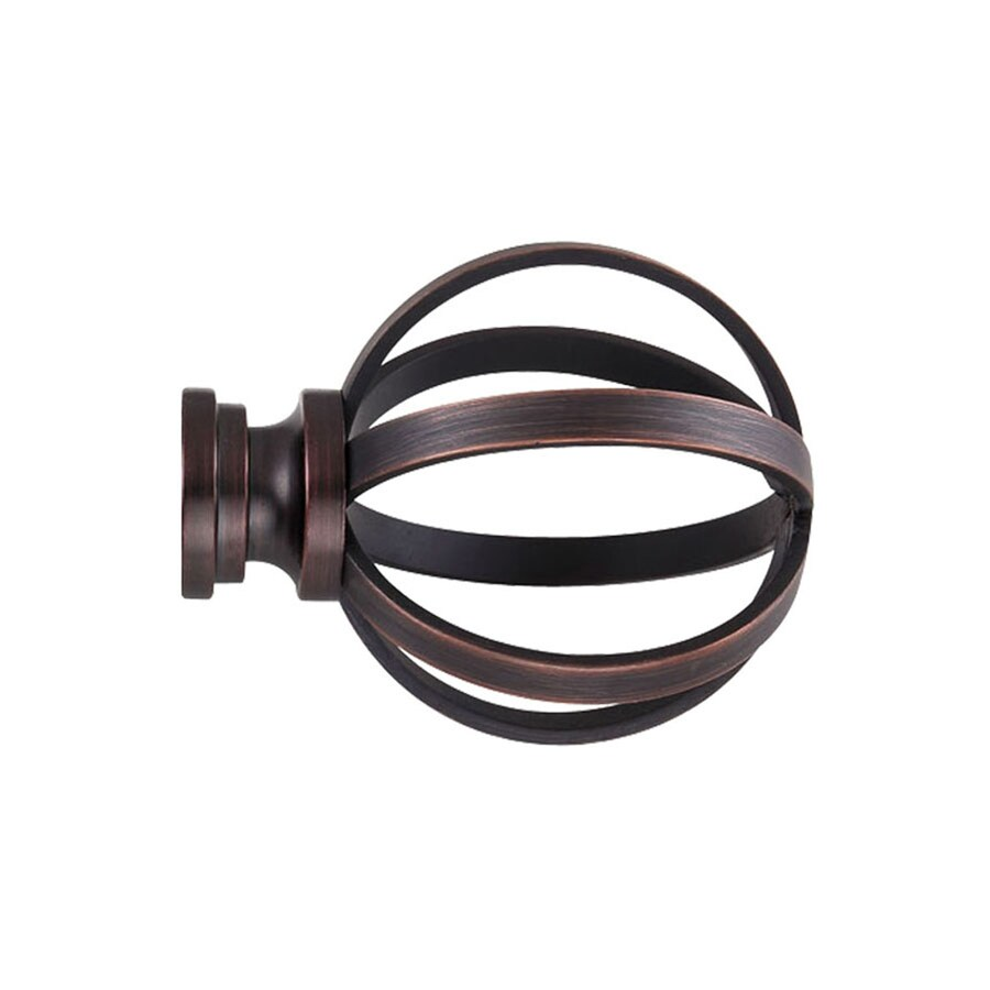 Allen Roth 2 Pack Oil Rubbed Bronze Steel Curtain Rod Finials