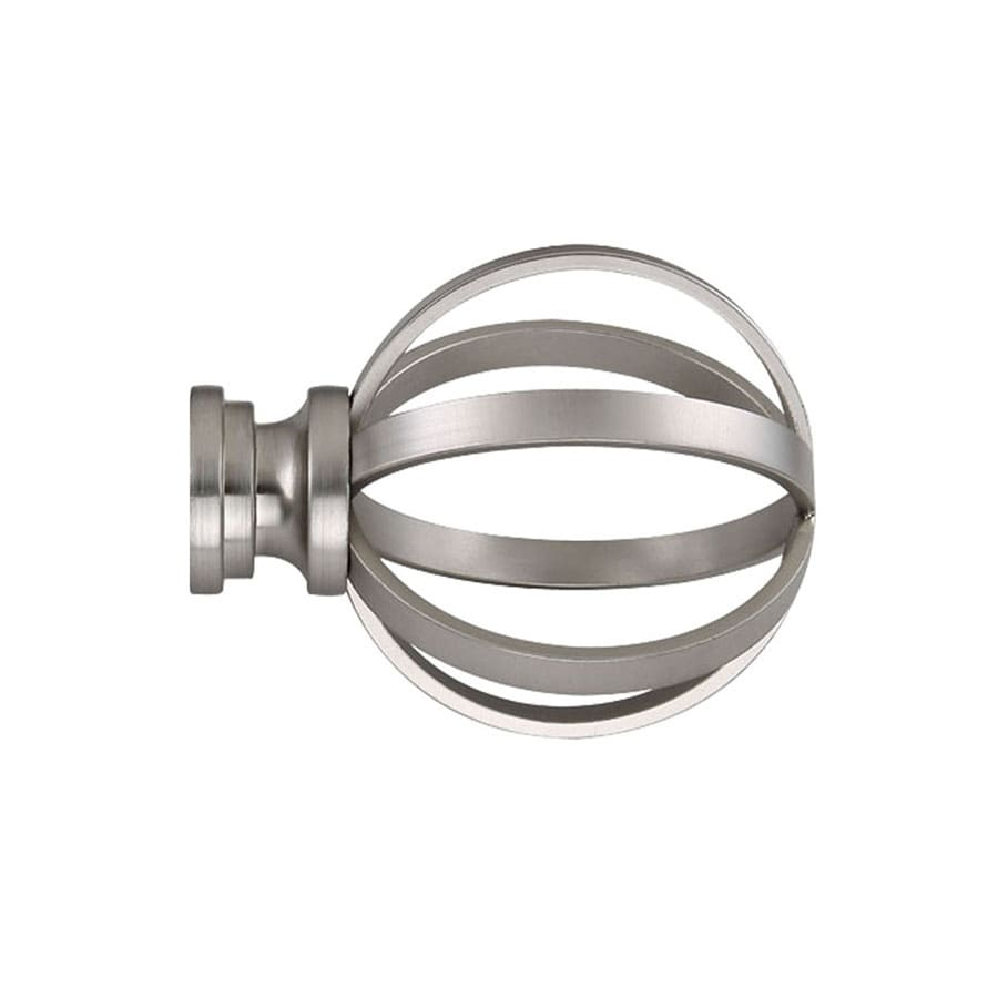 Shop Allen Roth 2 Pack Brushed Nickel Steel Curtain Rod Finials At