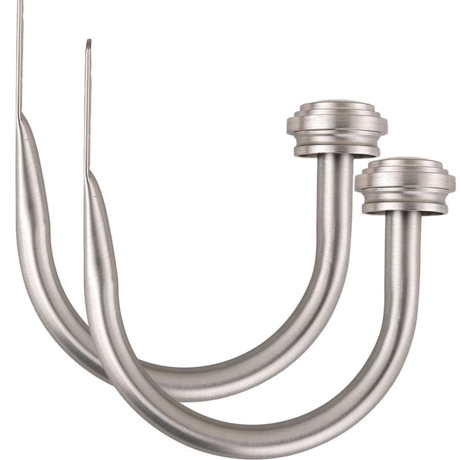 allen + roth Brushed Nickel 2-Pack Brushed Nickel Steel Curtain Holdbacks
