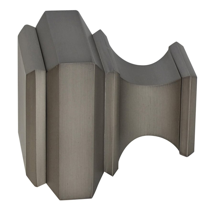 allen + roth Brushed Pewter Aluminum Curtain Rod Finials