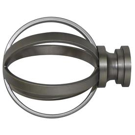 allen roth brushed pewter steel curtain rod finials