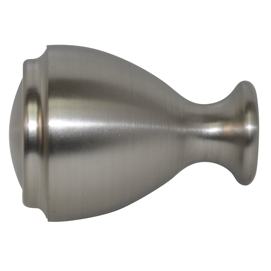 Shop Allen Roth Brushed Nickel Aluminum Curtain Rod Finials At