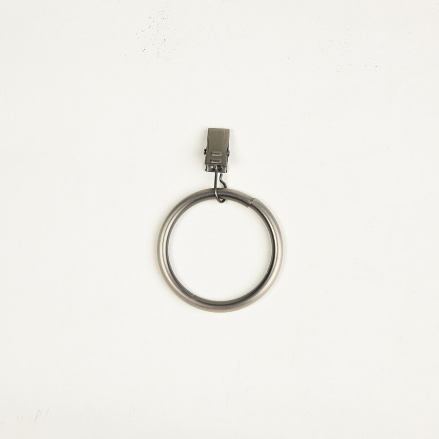 allen + roth Brushed Pewter 10-Pack 3.25-in Pewter Steel Curtain Rings