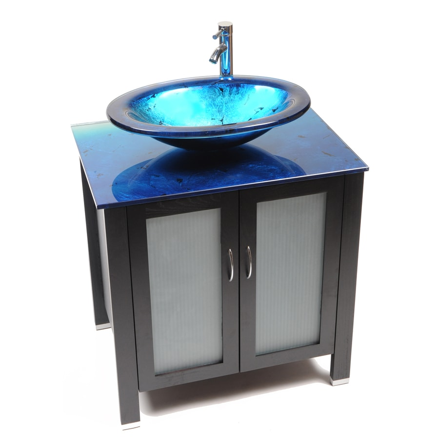 Glass Vanity Tops For Bathrooms : Shop bionic waterhouse in dark venge single