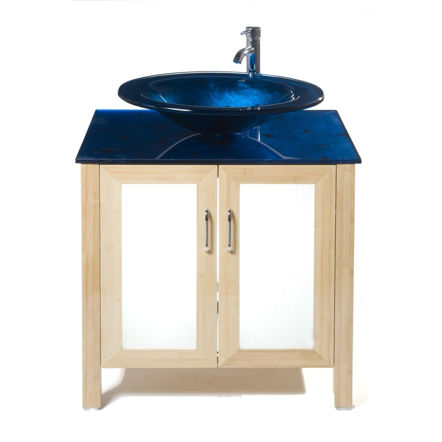 Bathroom Vanity 31 X 22 shop bionic waterhouse 31-in x 22-in light bamboo single sink