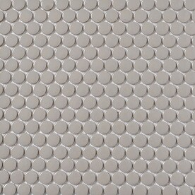Style Selections Grey 12-in x 12-in Porcelain Penny Round Mosaic Wall Tile (Common: 12-in x 12-in; Actual: 11.5-in x 12.75-in)