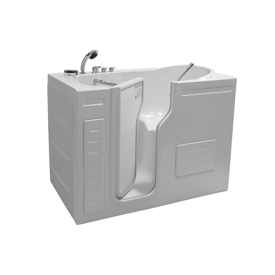 Northeastern Bath Northeastern Bath Acrylic Rectangular Alcove Bathtub with Left-Hand Drain (Common: 30-in x 51-in; Actual: 42-in x 29.5-in x 51-in)