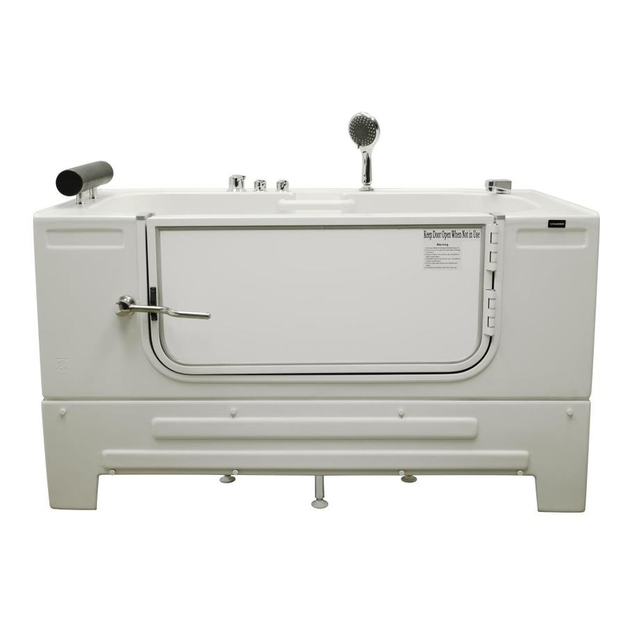 Northeastern Bath Northeastern Bath Acrylic Rectangular Alcove Bathtub with Right-Hand Drain (Common: 32-in x 59-in; Actual: 33-in x 32-in x 59-in)