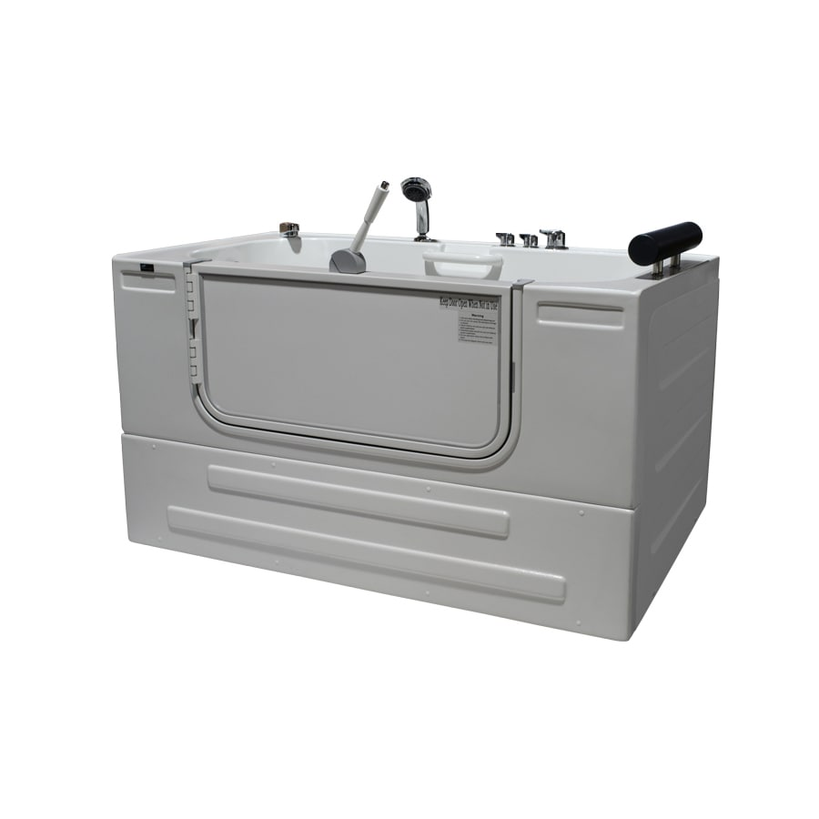 Northeastern Bath Northeastern Bath Acrylic Rectangular Alcove Bathtub with Left-Hand Drain (Common: 32-in x 59-in; Actual: 33-in x 32-in x 59-in)