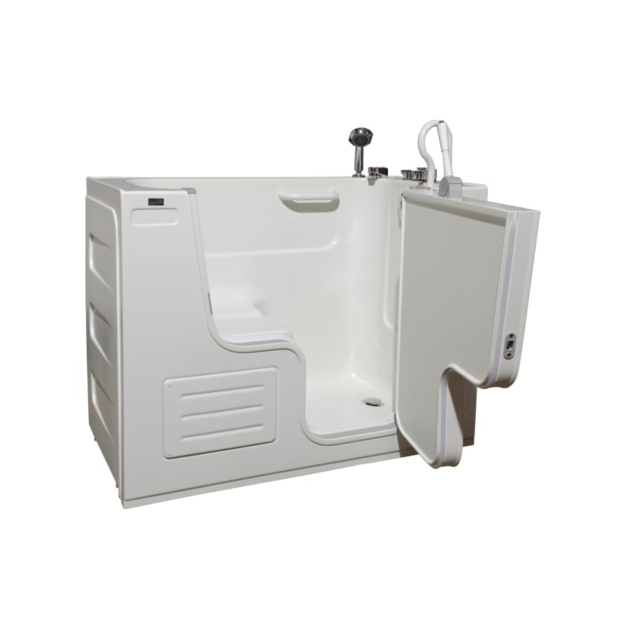 Shop Northeastern Bath Acrylic Rectangular Walk In Bathtub