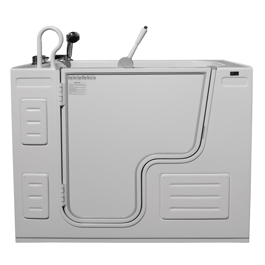Northeastern Bath 51-in White Acrylic Walk-In Air Bath with Left-Hand Drain