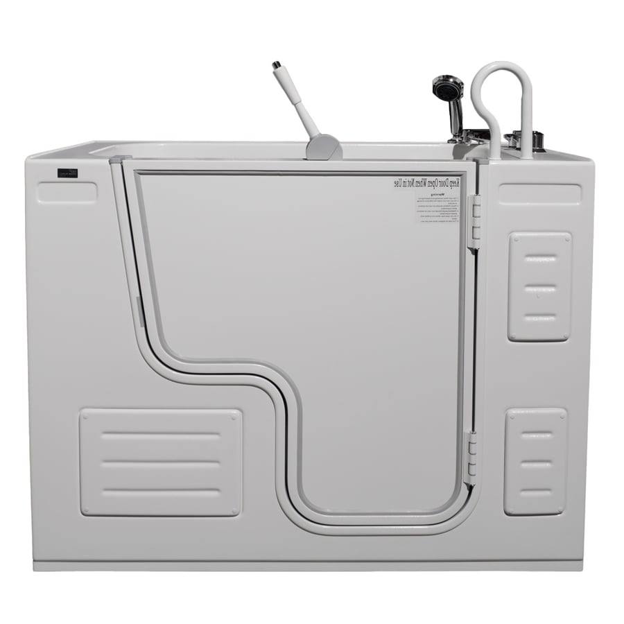 Northeastern Bath 51-in L x 27-in W x 40-in H White Acrylic Rectangular Walk-in Air Bath