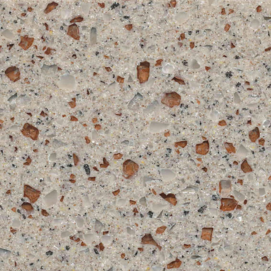 allen + roth Coral Swarm Solid Surface Kitchen Countertop Sample