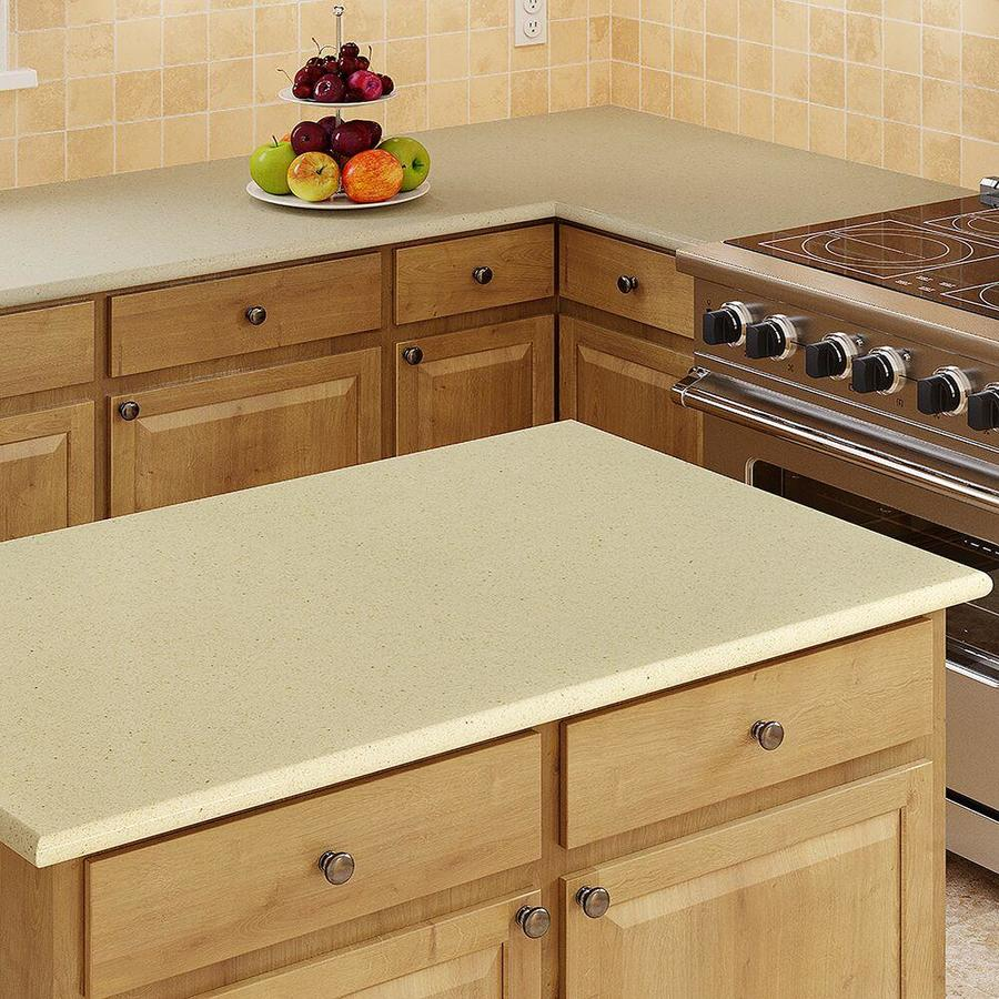 Shop allen roth wheat quartz kitchen countertop sample for Lowes countertops