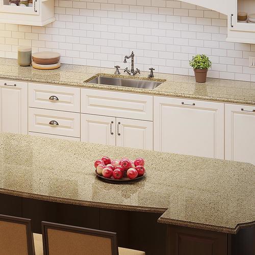 Allen Roth Saffron Quartz Kitchen Countertop Sample At