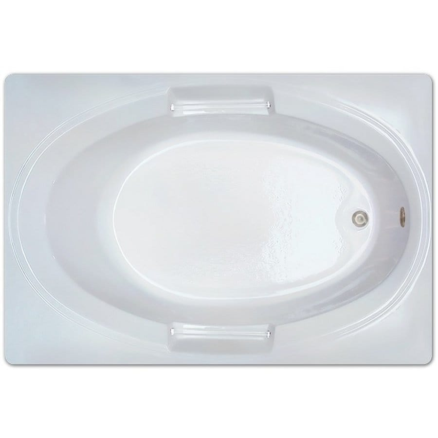 Home and Garden 60-in White Acrylic Drop-In Bathtub with Reversible Drain