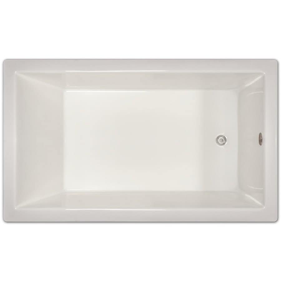 Home and Garden 72-in White Acrylic Drop-In Bathtub with Reversible Drain
