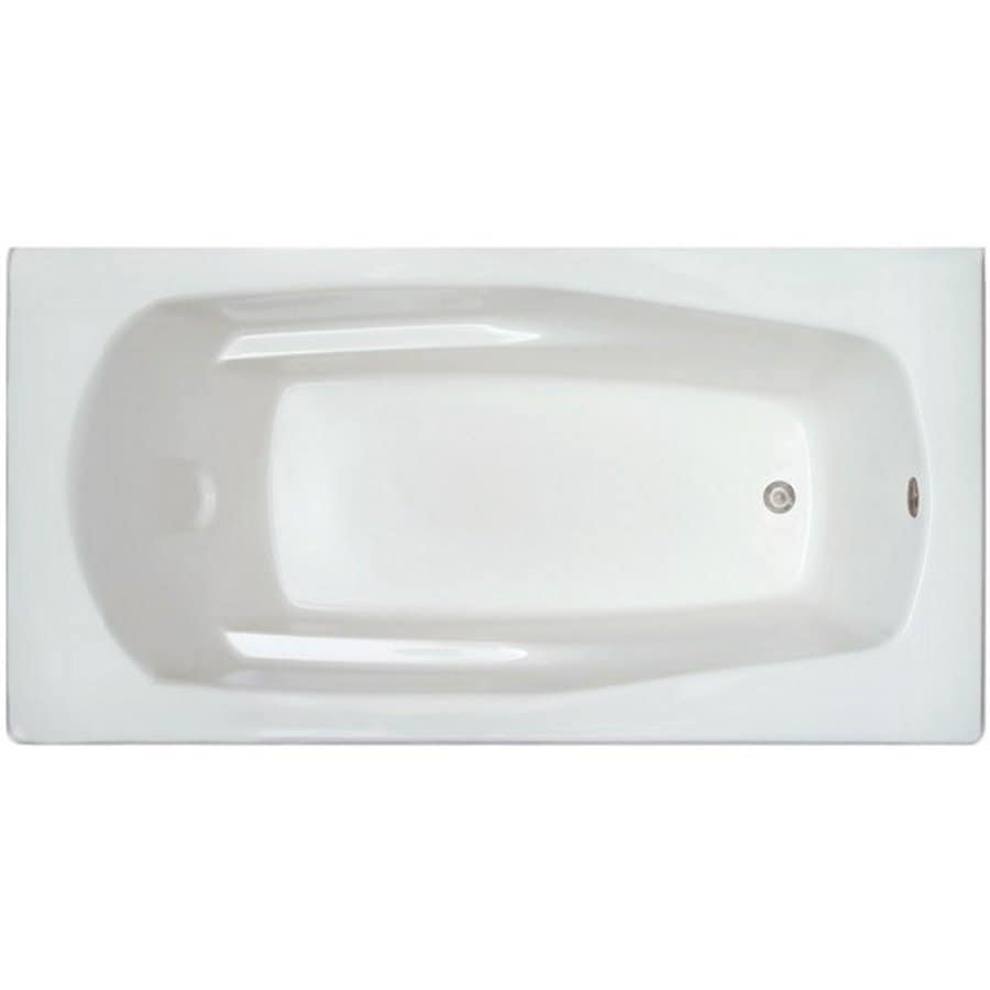 Home and Garden 71-in White Acrylic Drop-In Bathtub with Reversible Drain