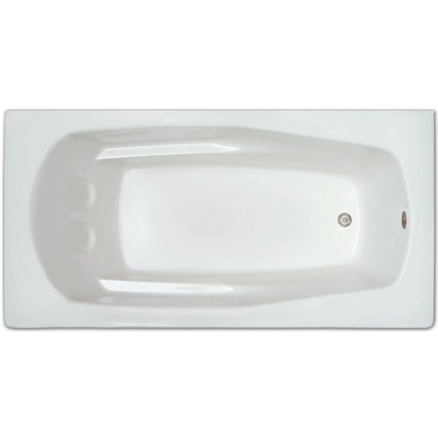Home and Garden 66-in White Acrylic Drop-In Bathtub with Reversible Drain