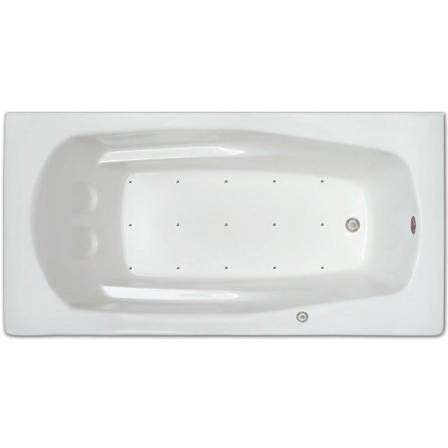 Home and Garden Home 66-in White Acrylic Drop-In Air Bath with Left-Hand Drain