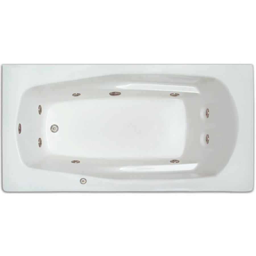 Shop home and garden home 66 in white acrylic drop in for Whirlpool garden tub