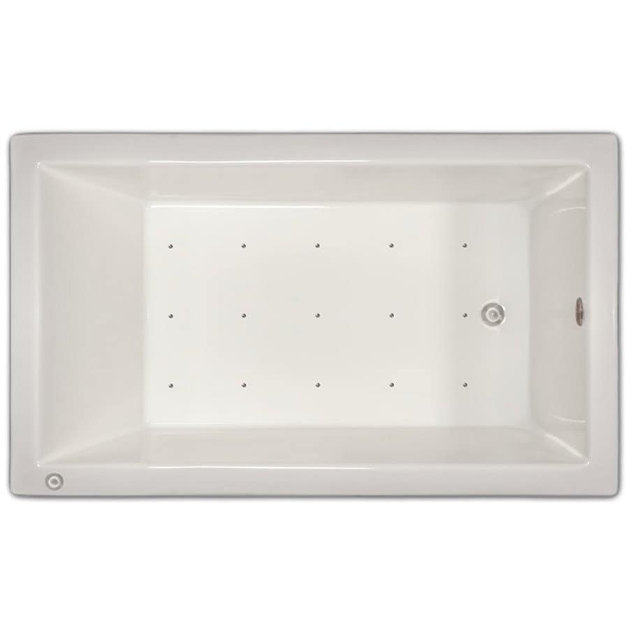 Home and Garden Home 60-in White Acrylic Drop-In Air Bath with Left-Hand Drain
