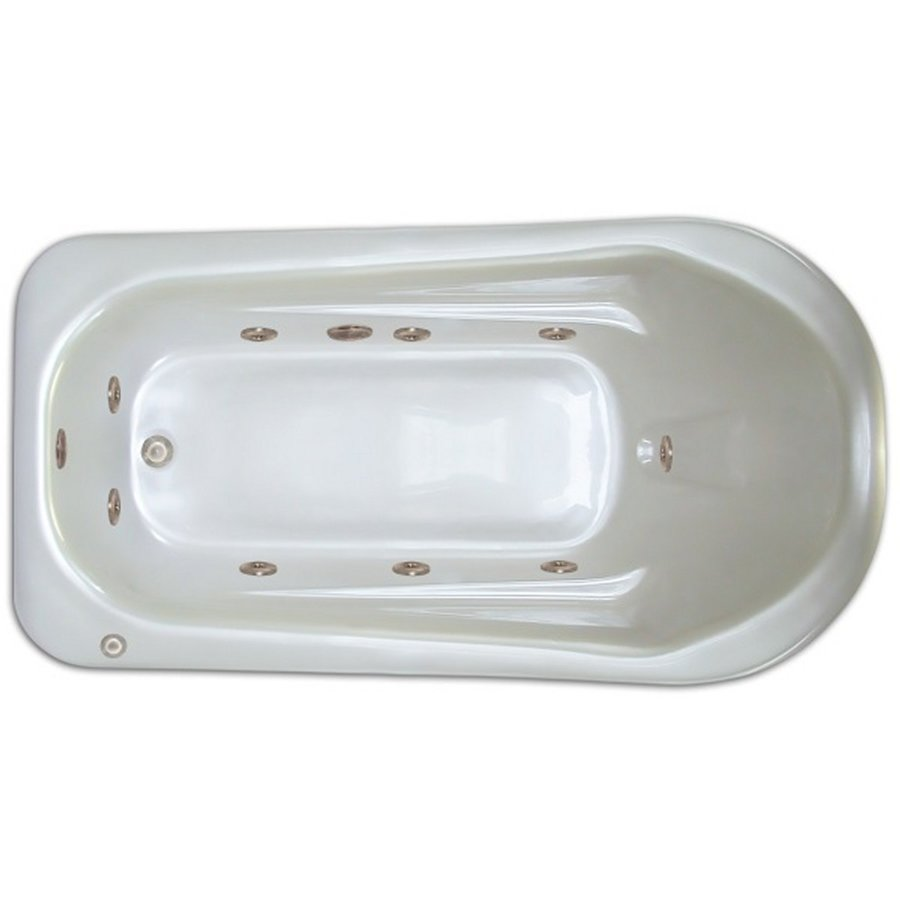 Home and Garden Home 72-in White Acrylic Drop-In Whirlpool Tub with Left-Hand Drain