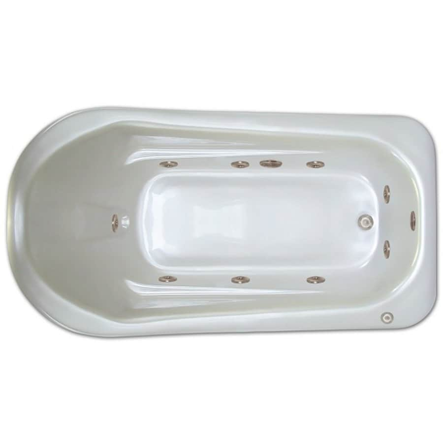 Home and Garden Home 72-in White Acrylic Drop-In Whirlpool Tub with Right-Hand Drain