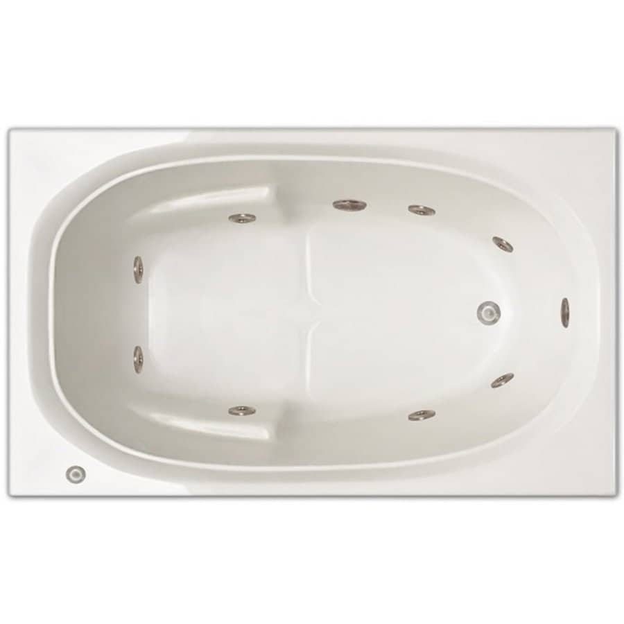 Home And Garden Home 60 In White Acrylic Drop In Whirlpool Tub With Right