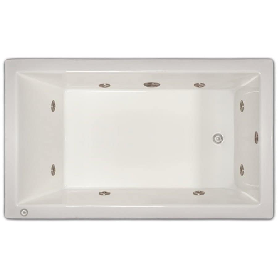 Shop home and garden home 60 in white acrylic drop in for Whirlpool garden tub