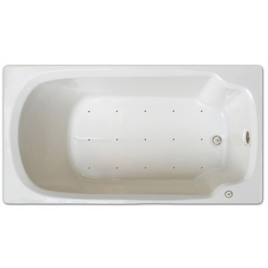 Home and Garden Home 60-in White Acrylic Drop-In Air Bath with Right-Hand Drain