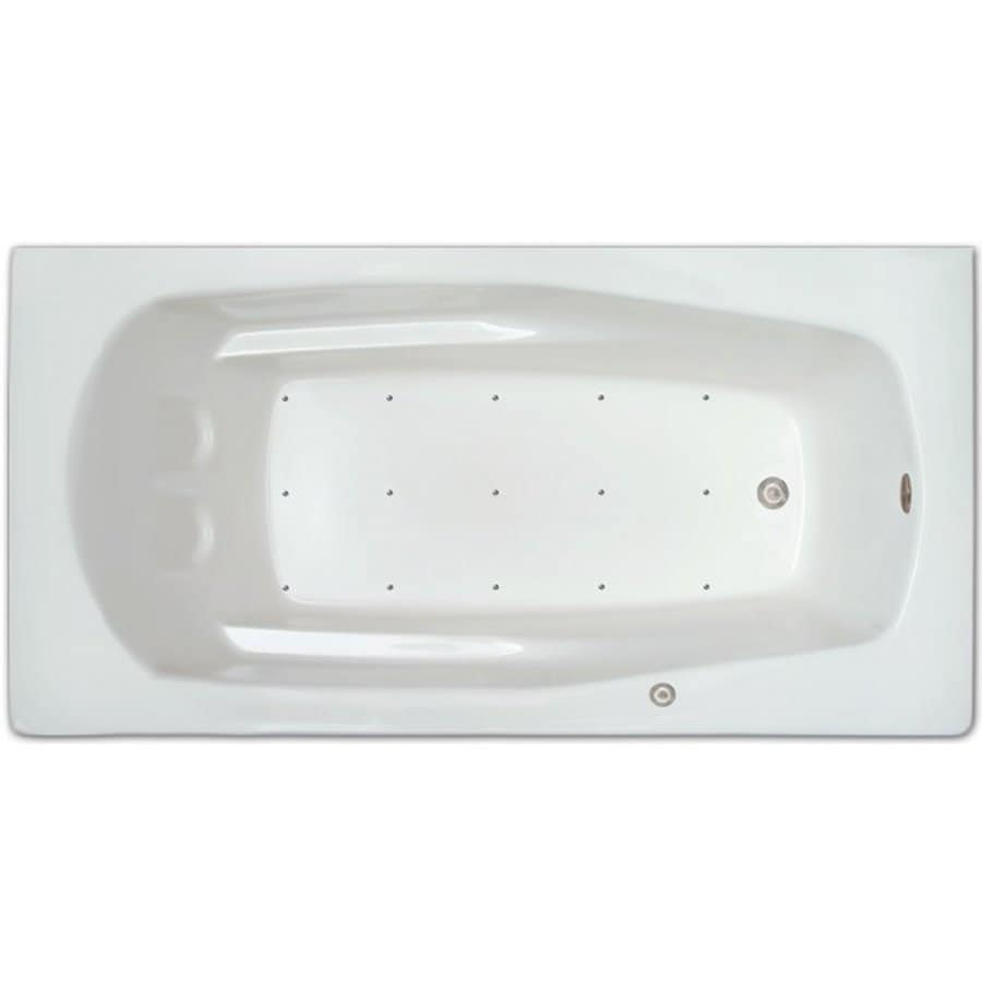 Home and Garden Home 71-in White Acrylic Drop-In Air Bath with Left-Hand Drain