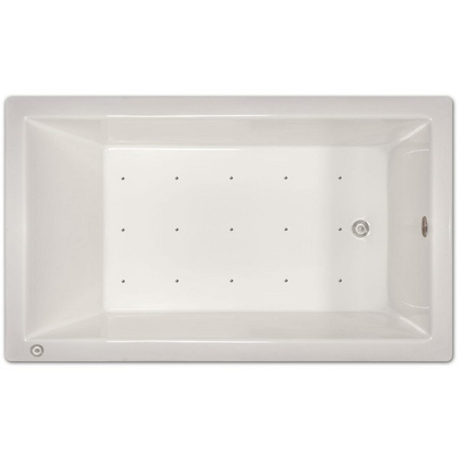 Home and Garden Home 72-in White Acrylic Drop-In Air Bath with Right-Hand Drain