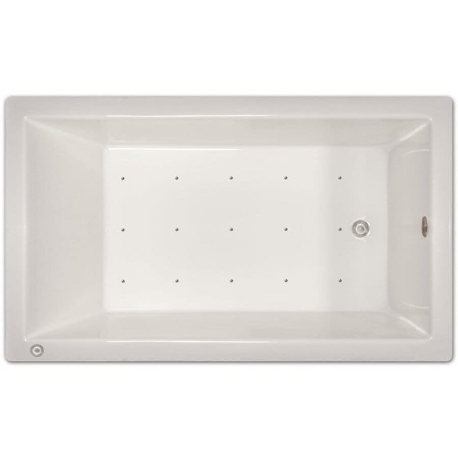 Home and Garden Home 72-in White Acrylic Drop-In Air Bath with Left-Hand Drain