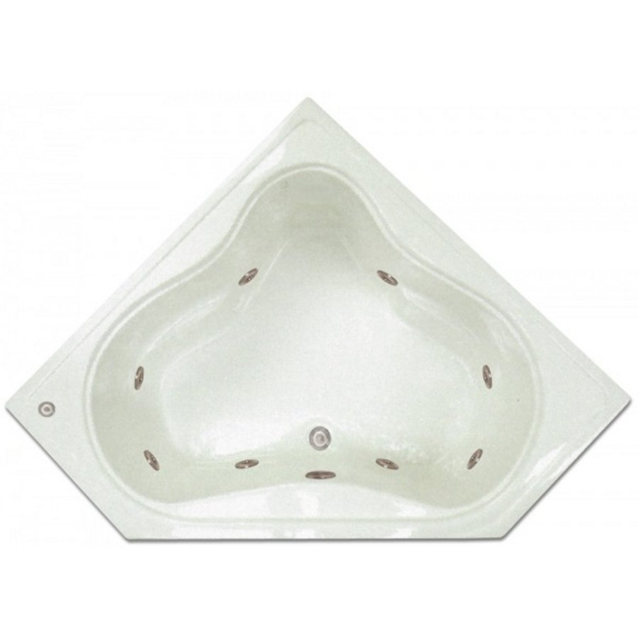 Home And Garden Home 54 In White Acrylic Drop In Whirlpool Tub With Center