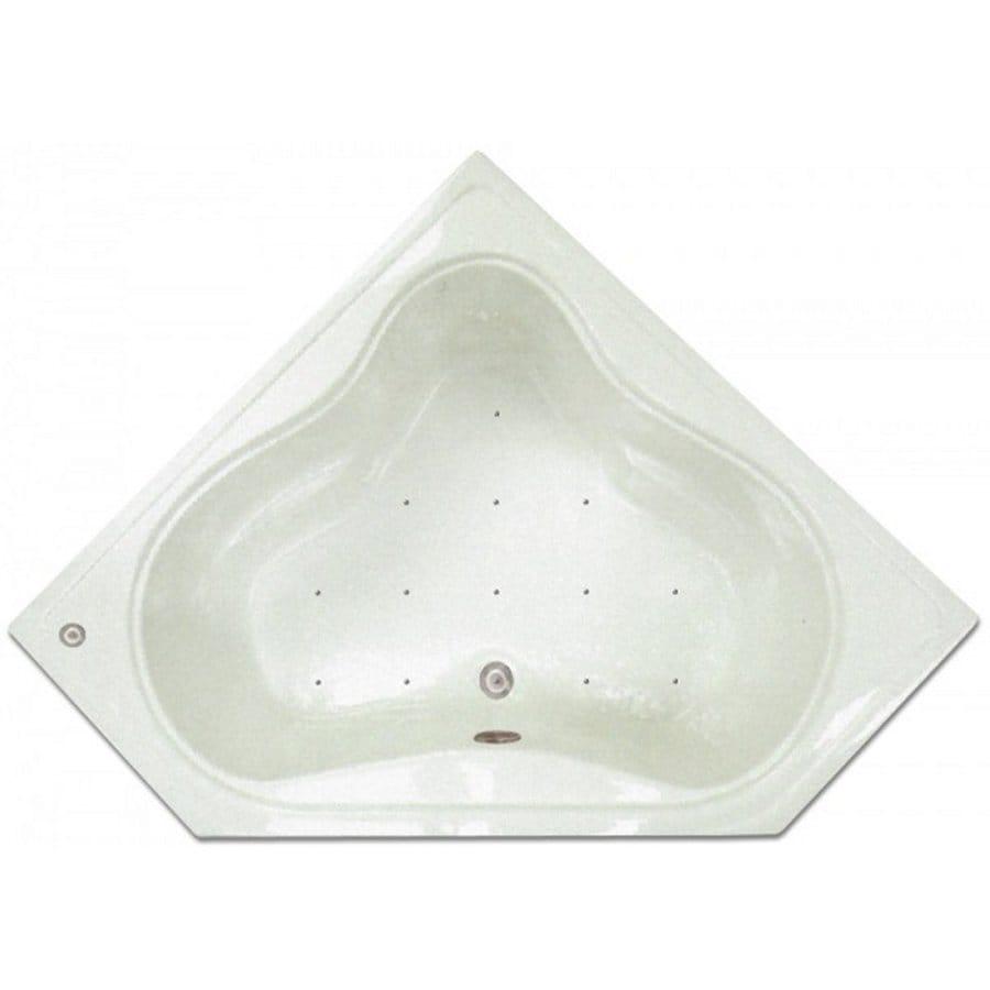 Home and Garden Home 54-in L x 22.75-in W x 17.5-in H White Acrylic 2-Person-Person Corner Drop-in Air Bath