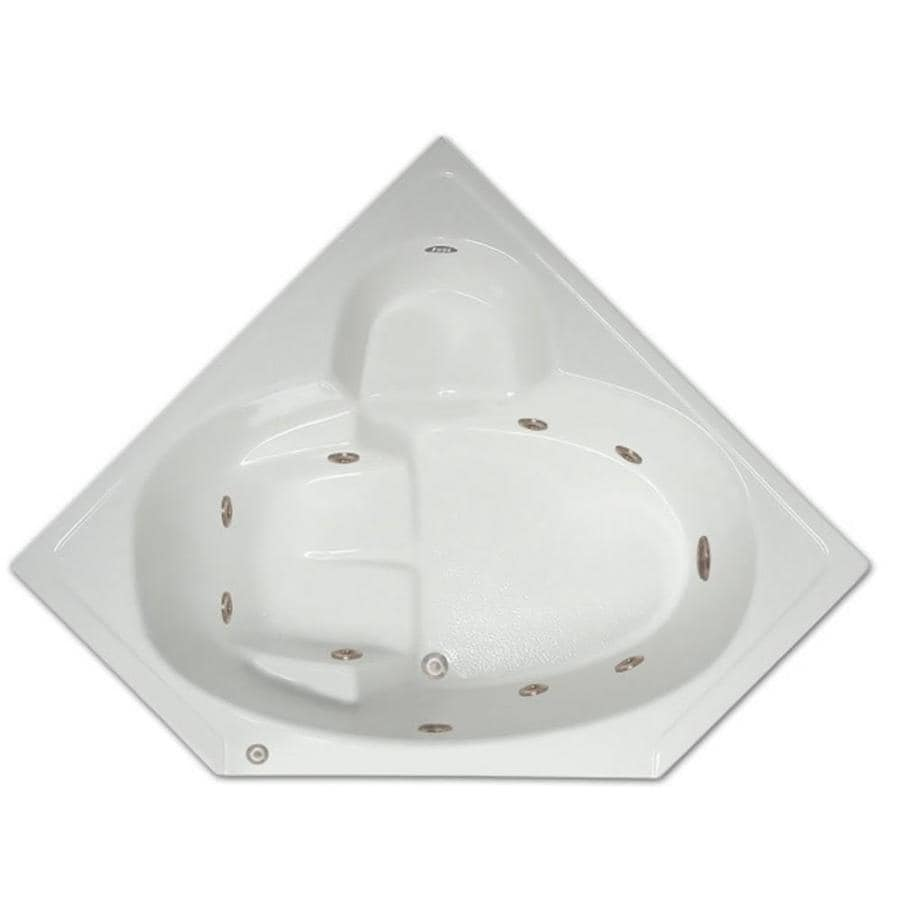 Home and Garden Home 60-in White Acrylic Drop-In Whirlpool Tub with Center Drain