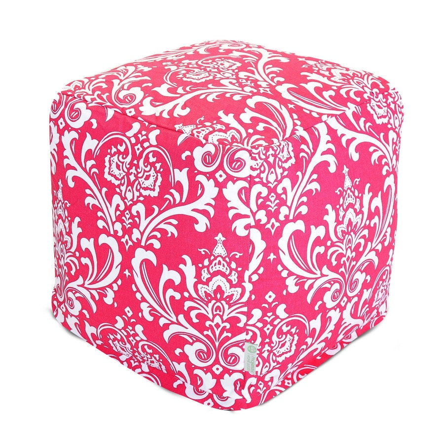 Majestic Home Goods Hot Pink and White French Quarter Bean Bag Chair