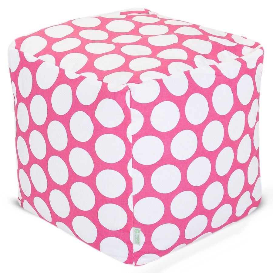 Majestic Home Goods Hot Pink Large Polka Dot Bean Bag Chair