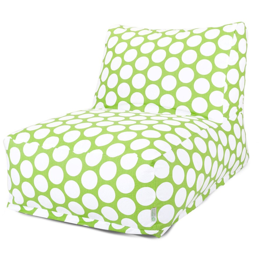 Majestic Home Goods Hot Green Large Polka Dot Bean Bag Chair