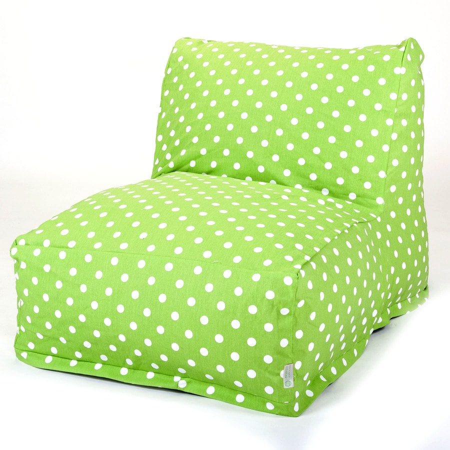 shop majestic home goods lime small polka dot bean bag chair at. Black Bedroom Furniture Sets. Home Design Ideas