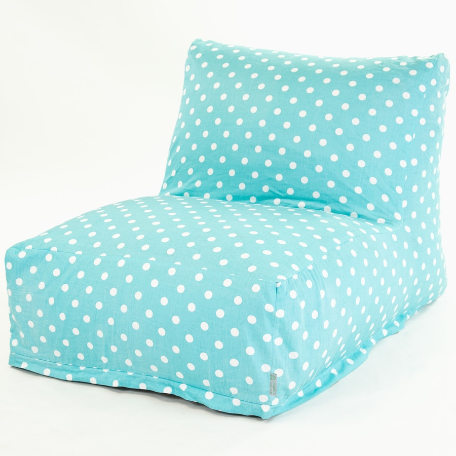 Majestic Home Goods Aquamarine Small Polka Dot Ottoman