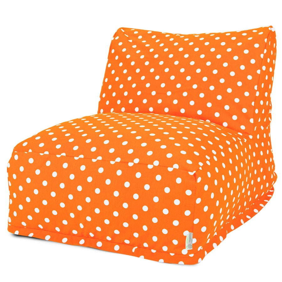 Majestic Home Goods Tangerine Small Polka Dot Bean Bag Chair