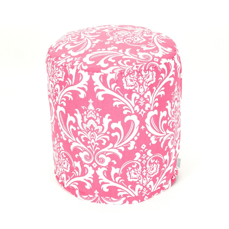 Majestic Home Goods Hot Pink and White Bean Bag Chair