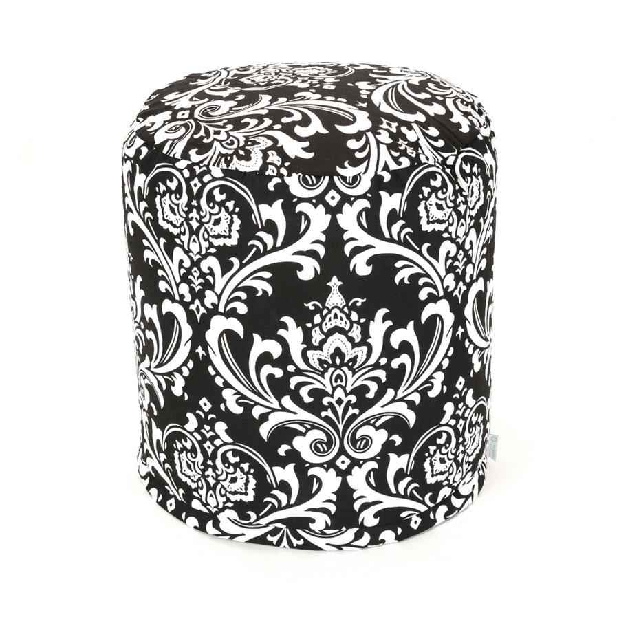 Majestic Home Goods Black And White Bean Bag Chair