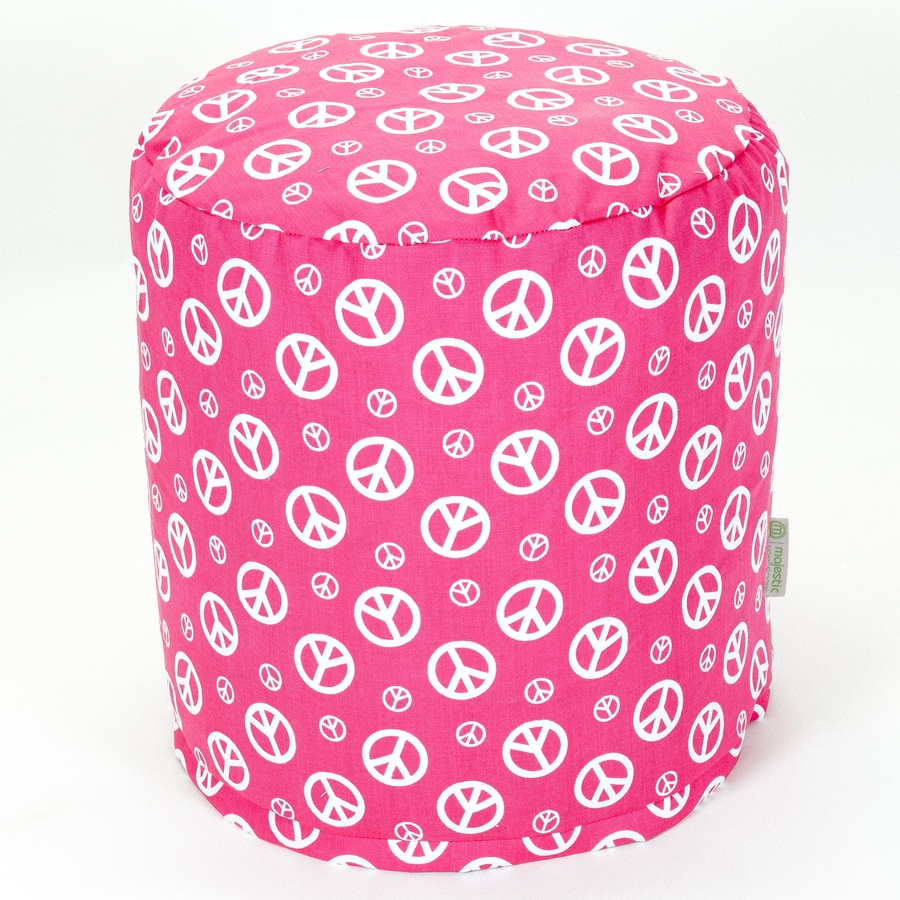Majestic Home Goods Hot Pink Peace Bean Bag Chair