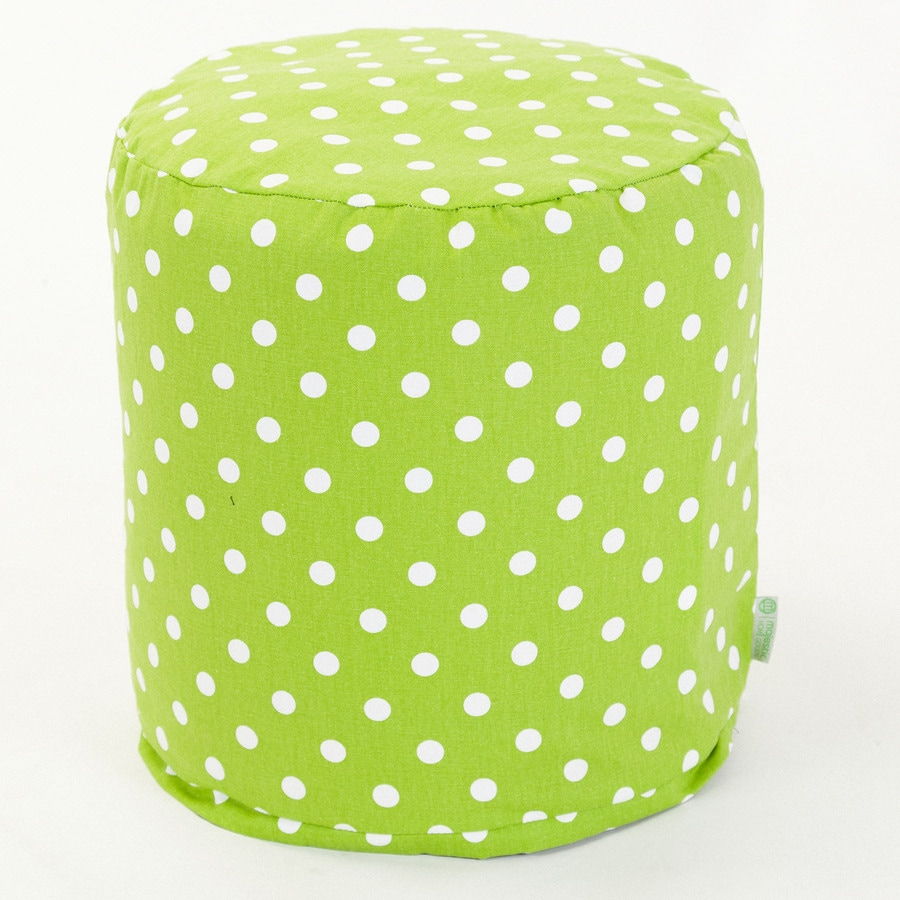 Majestic Home Goods Lime Small Polka Dot Bean Bag Chair