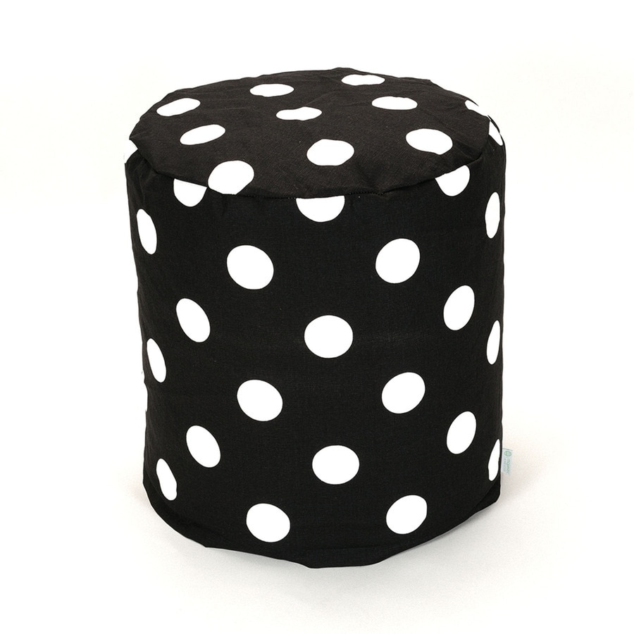 Majestic Home Goods Black Large Polka Dot Bean Bag Chair