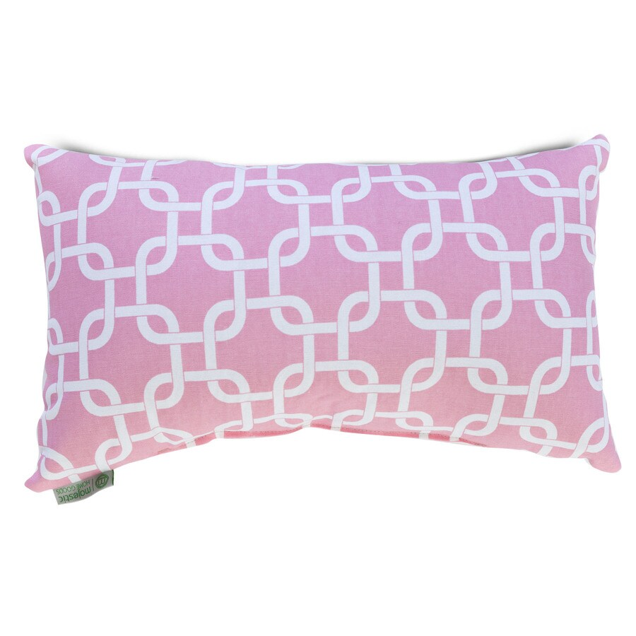 Majestic Home Goods 12-in W x 20-in L Soft Pink Indoor Decorative Pillow